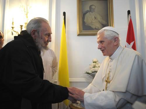 El Papa Ratzinger y Fidel Castro