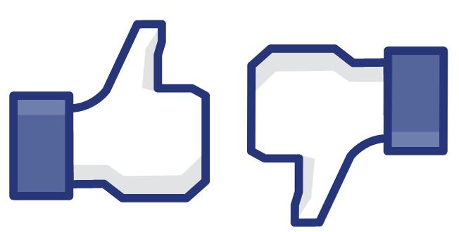 Facebook like y no like