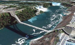 Postcards from Google Earth de Clement Valla - Niagara
