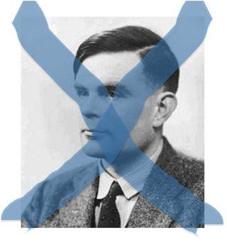 "Alan Turing ""tachado"""