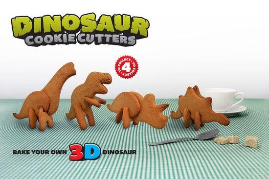 Dinosaurios galleta tridimensionales