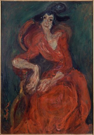 Chaim Soutine Woman in red 2