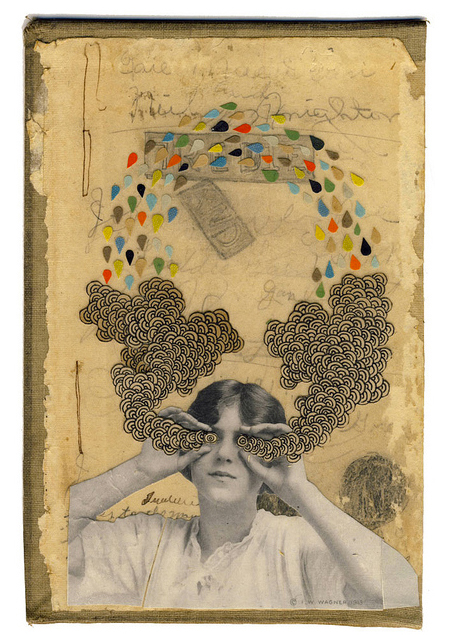 Book cover collages by American artist Hollie Chastain.