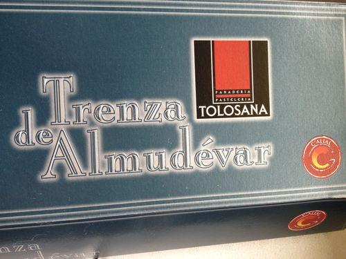 Caja de presentación de la auténtica trenza de Almudévar, premiada con la C de calidad por el gobierno de Aragón