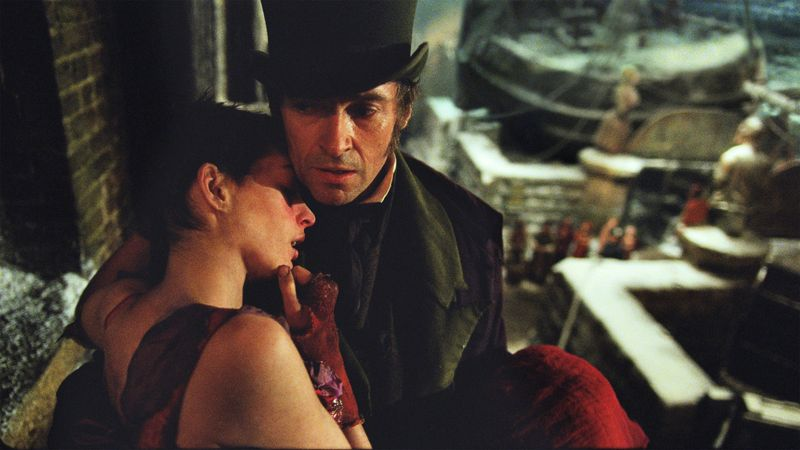 Hugh Jackman y Anne Hathaway en 'Los miserables'