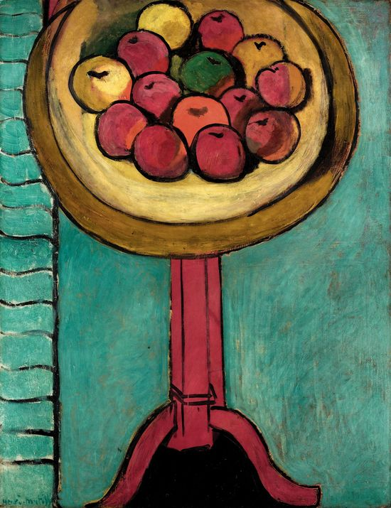 MATISSE.23._Bowl of Apples on a Table_Henri Matisse
