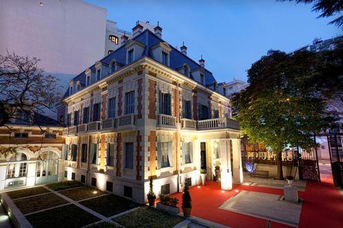 Palacete del hotel Santo Mauro que por unos días se convierte en Maison Mumm