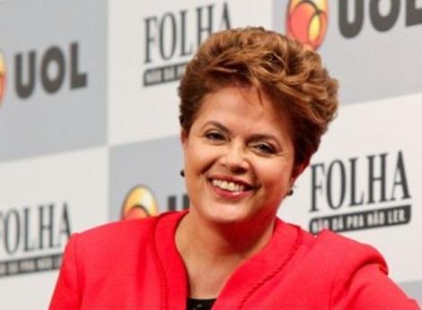 Dilma feliz