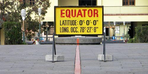 Línea del Ecuador, en Quito