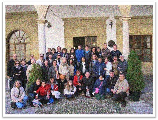 Visita del Club de lectura y cine del IES 'Auringis' al Aula de Antonio Machado, donde el poeta impartía clases de Francés (Instituto 'Santísima Trinidad' de Baeza)