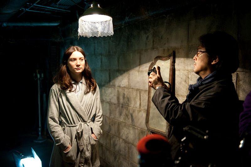 Wasikowska y Park en el rodaje de 'Stoker'