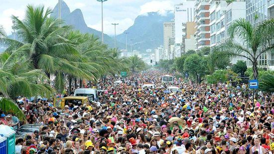 Carnavales en la calle en Rio