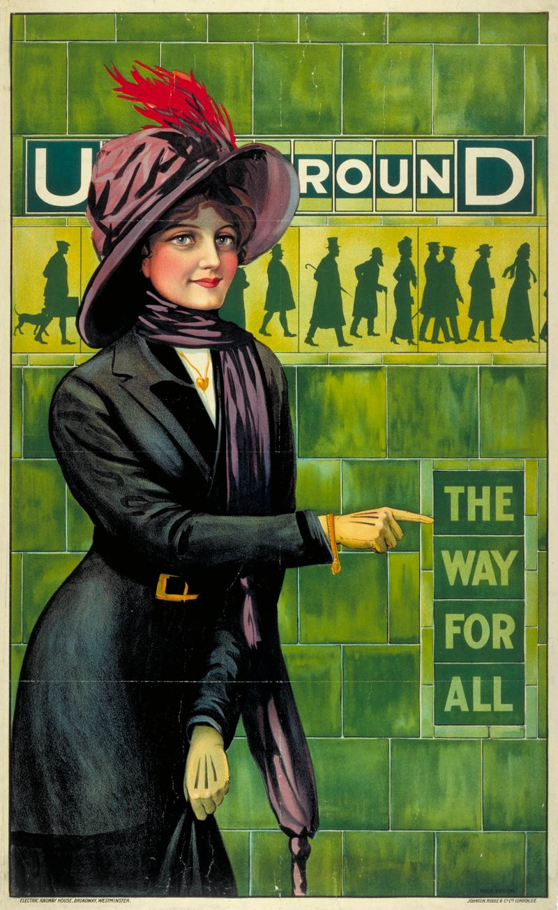120. Underground; the way for all, by Alfred France, 1911