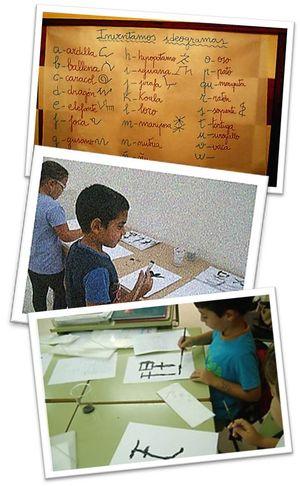 Los ideogramas representan palabras o pensamientos.