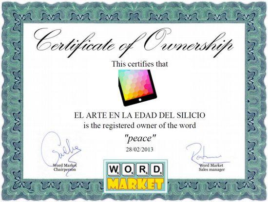 Word Market - Peace
