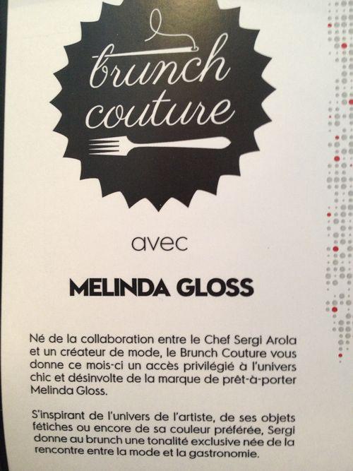 Preámbulo en el que se explica el vínculo entre las prendas de Melinda Gloss y el brunch de Sergi Arola