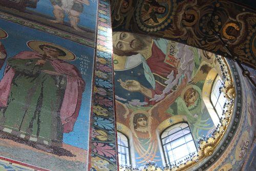 Interior de la Iglesia de la Sangre Derramada, en San Petersburgo
