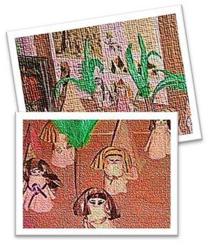 Maqueta en donde se refleja la vida en el Antiguo Egipto.