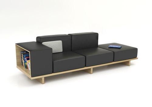 Geta Sofa by Arik Levy (black)