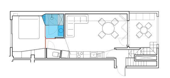 El baño, en un ático de 40 metros cuadrados
