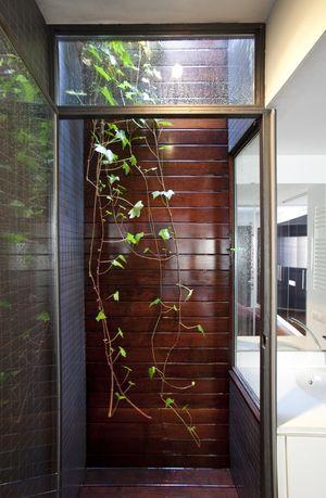 El patio es una ampliación de la ducha