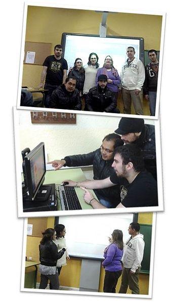 Actividades colectivas en el aula del Centro Público de Educación de Adultos del Distrito Centro de Madrid,