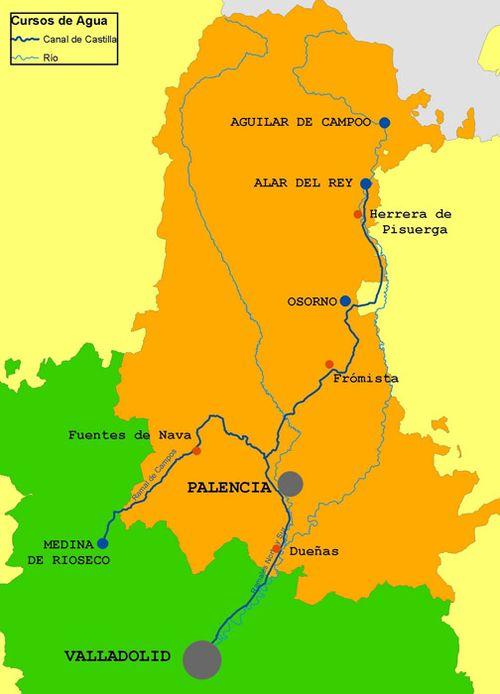 Plano Canal de Castilla