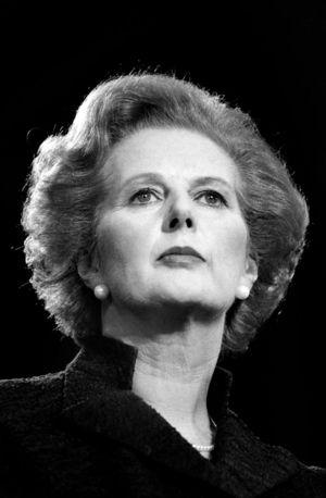 Imagen (2) de Peter Marlow (Magnum Photos). Margaret Thatcher durante una conferencia del Partido Conservador en Brighton en 1981.