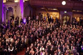 Salón de actos durante la gala de 2012
