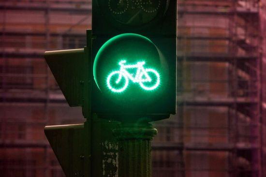 Semáforo para bicis en Madrid. Cristobal Manuel