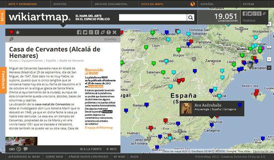 El proyecto WikiArtMap