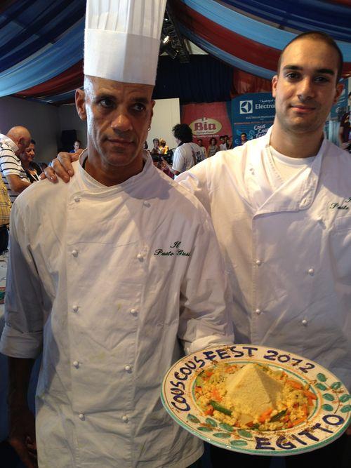 Cocineros egipcios Aly Mohamed y Ahmad Mihamed Aly, padre e hijo