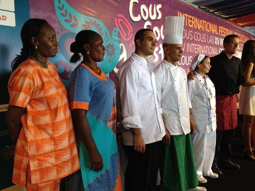 Cocineras y cocineros de Costa de Marfil, Egipto y Marruecos participantes en la primera ronda