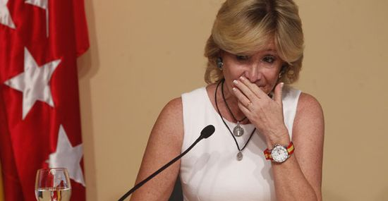 Esperanza Aguirre anuncia su dimisión. / BERNARDO PÉREZ