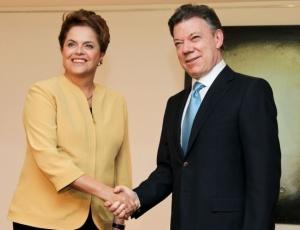 Dilma y Santos