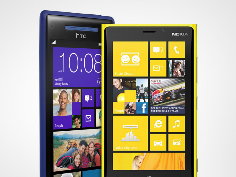 Nokia Lumi 920 y HTC 8X con Windows Phone 8