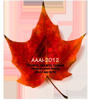 Cartel de la conferencia AAAI 2012.