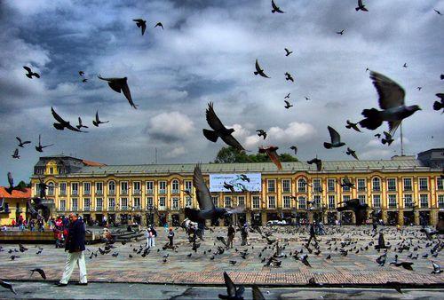 Plaza de Bolívar, en Bogotá