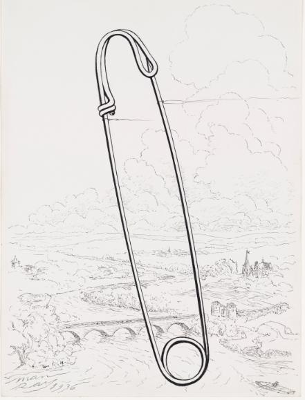 Safety pin (1936) Man Ray
