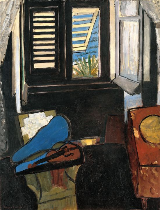 MATISSE.29._Interior with a Violin (Room at the Hotel Beau-Rivage)_Henri Matisse