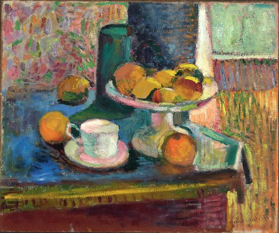 MATISSE.2._Still Life with Compote, Apples, and Oranges_Henri Matisse
