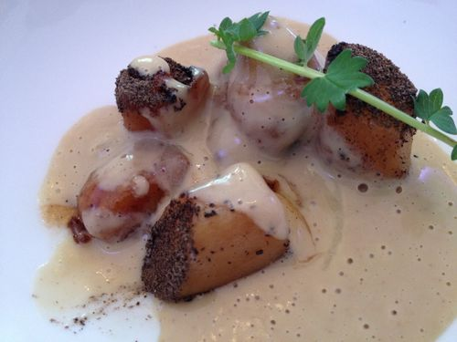 Ragú de mollejas y foie gras