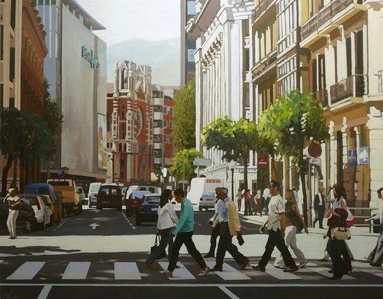 Jose maria pinto cruzando-entre-edificios-