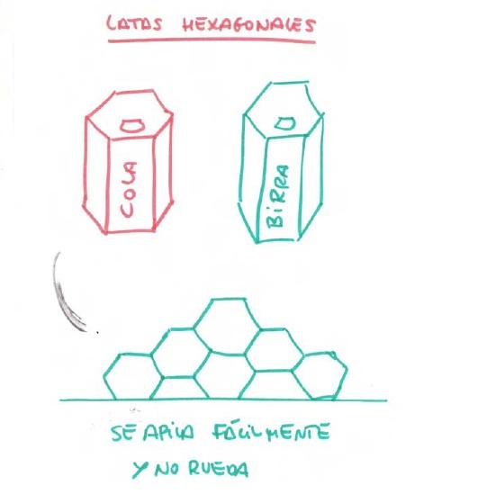 Latas hexagonales