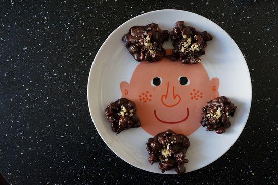 Rocas de chocolate maiz peta zetas