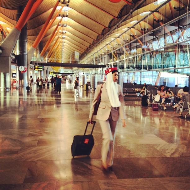 Instagrameando azafata de Emirates