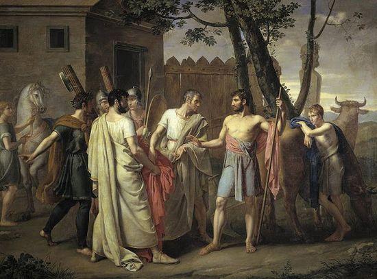 Ribera_  Juan Antonio_ Cincinato abandona el arado para dictar leyes a Roma, 1806 _ Museo del Prado