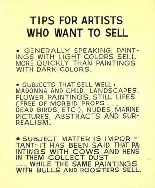 Baldessari-tips for artists