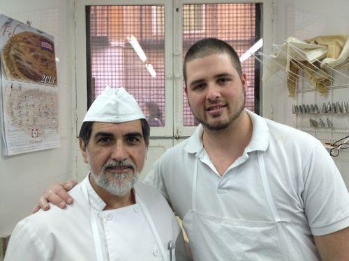 Ángel Villamil y José Luis Ruiz, su ayudante