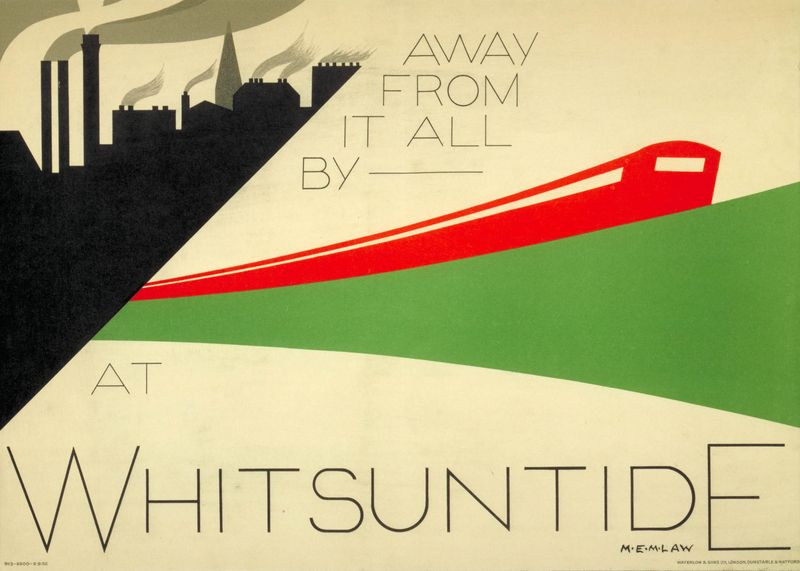 42. Away from it all by Undeground at Whitsuntide by M E M Law 1932